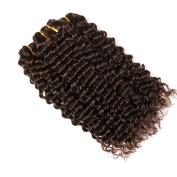 CLAROLAIR Brazilian Deep Wave Curly Virgin Hair 7A Unprocessed Brazilian Virgin Human Hair Weave Virgin Brazilian Hair Deep Curly Wave Dark Brown 2# Colour 8-70cm (100+/-5g)/pc