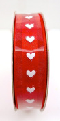Jo-ann's Valentine's Day Ribbon,red,white,hearts,polyester