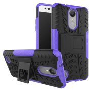 LG LV3 Case,LG K8 2017 Case,LG Aristo Case, ARSUE [Premium Rugged] Heavy Duty Armour [Shock Resistant] Dual Layer with Kickstand Case for LG LV3/Aristo/V3/MS210 - Purple