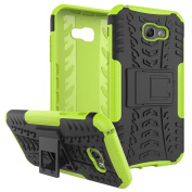 Galaxy A7 2017 Case ,ARSUE [Premium Rugged] Heavy Duty Armour [Shock Resistant] Dual Layer with Kickstand Case for Samsung Galaxy A7 2017 - Green