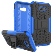 Galaxy A7 2017 Case ,ARSUE [Premium Rugged] Heavy Duty Armour [Shock Resistant] Dual Layer with Kickstand Case for Samsung Galaxy A7 2017 - Blue