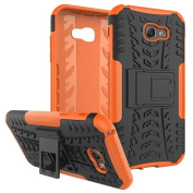 Galaxy A7 2017 Case ,ARSUE [Premium Rugged] Heavy Duty Armour [Shock Resistant] Dual Layer with Kickstand Case for Samsung Galaxy A7 2017 - Orange