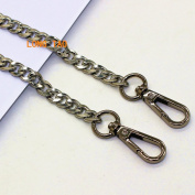 LONG TAO 140cm DIY Iron Flat Chain Strap Handbag Chains Accessories Purse Straps Shoulder Cross Body Replacement Straps, with 2pcs Metal Buckles