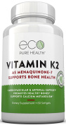 Vitamin K2 As Menaquinone-7, Promotes Healthy Bones, Cardiovascular & Arterial Support, Supports Calcium Metabolism, By Eco Pure Health