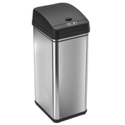 iTouchless Deodorizer Automatic Sensor Touchless Trash Can, 49 Litre / 13 Gallon, Stainless Steel 3-Pack