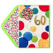 Birthday Card 60th Bright Dots
