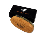 Urbane Men Beard Brush - Made with 100% Natural Boar Bristle - Perfect for Beard Oils and Balms - Softens and Conditions Itchy Beard