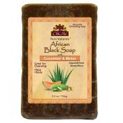OKAY African Black Soap Cucumber & Melon, Cucumber & Melon, 160ml
