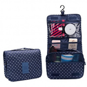 Healthcom Hooking Cosmetic Bags Multi-function Makeup Cosmetic Bag Portable Travel Kit Organiser Bathroom Storage Waterproof Carry Case,Navy Wave Point