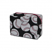 Baseball Print NGIL Large Cosmetic Travel Pouch - Hot Pink