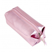 TRENDINAO 2017 Fashion Pink Zipper Comestic Storage Bag Hologram Pencil Case Pen Holder Makeup Boxes