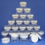 24 Pcs 10g Plastic Jar Make up Cream Cosmetic Lotion Double Wall Container Case