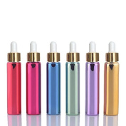 6 Sets Assorted 10ml UV Coated Glass Dropper Bottles Grand Parfums Refillable Dropper Bottles with Glass Pipette for Essential Oil, Serums, Fragrance,