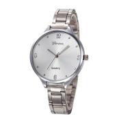 Voberry Fashion Women Crystal Stainless Steel Analogue Quartz Wrist Watch Bracelet