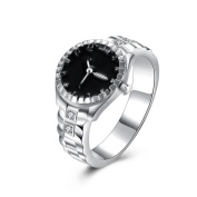 Voberry Fashion Women Mens Dial Quartz Analogue Watch Creative Steel Cool Alloy Finger Ring Watch