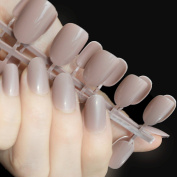 11 size= 24pcs Nails Oval Shape Light Coffee Shine Candy Lady Designed False Nail Tips Summer Must Daily Wear R26-388x