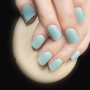 Daily Wear Candy Press On Nails Light Green Shiny Nail Art Tips Easy Decoration Manicure Accessories 24pcs/bag 482