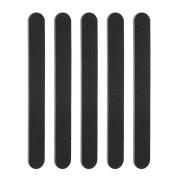 Anself 5pcs Black Nail Files Double Sided Nail Sanding Buffer Kit Manicure Pedicure Salon File Set Nail Polishing File Tool