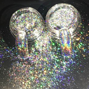 MIOBLET 0.2g/box Galaxy Holo Flakes Bling Rainbow Laser Nail Sequins Holographic Nail Art Glitter Powder Paillette
