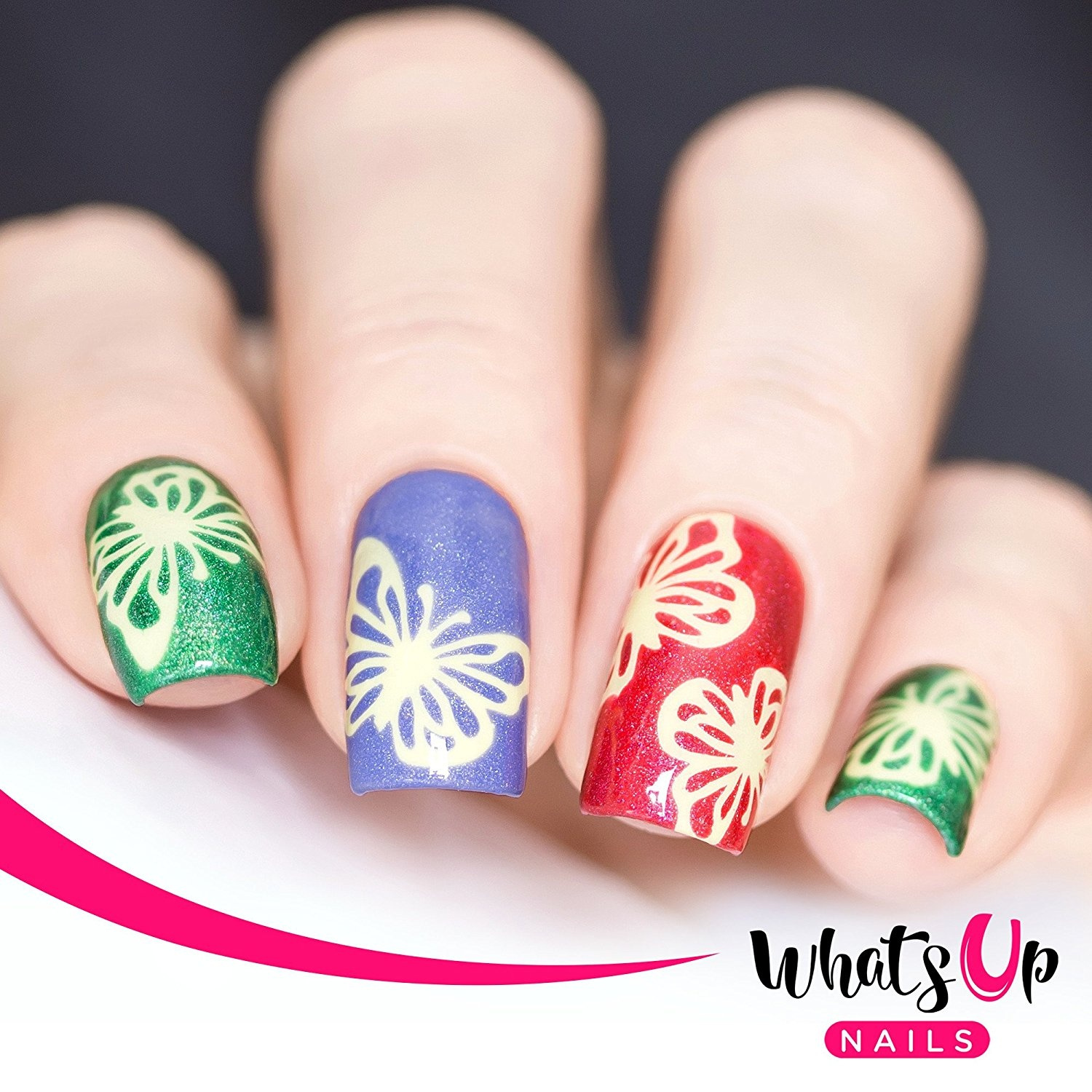 Whats Up Nails – Butterfly Wings Nail Stencils Stickers Vinyls for ...