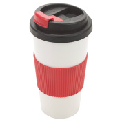 500ml Insulated Non Spill Thermal Travel Mug With Screw On Lid & Easy Grip Coffee Tea Hot Cup Drinking Warm Travel