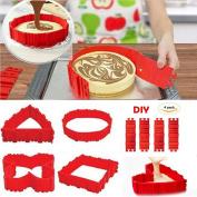 4PCS Food Grade Silicone Cake Baking Mould, Flexible Cake Making Mould Bake Snake DIY Cake Dessert Bake ware Mould Lanbao