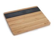 Progress BW05084 Bamboo Chopping Board with Slate Insert, 33cm