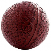 Red Metal Decorative Sphere