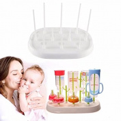 Portable Travel Size Foldable Baby Bottle Drying Rack and 1 set Baby Bottle and Nipple; Straw Cleansing Brush