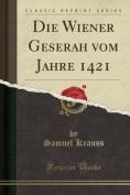 Die Wiener Geserah Vom Jahre 1421  [GER]