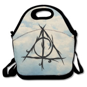 Deathly Hallows Large & Thick Insulated Tote LunchToteBag Tote Lunch Bag For Men Women Kids Art Of Lunch