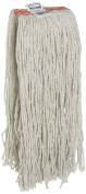 Rubbermaid Commercial FGF11700 Premium Cut-End Cotton Mop, 590ml Size, 2.5cm Orange Headband, White