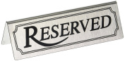 New Star 26900 Stainless Steel Reserved Table Sign, 12cm by 3.8cm , Set of 6