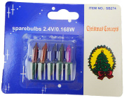 5 Multi Colour Push In Spare Replacement Bulbs 1 Prong 2.4v 0.168w