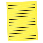 Bold Line Paper Pad in Neon Yellow with Black Lines - 90 Sheets