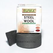 Briwax Steel Wool Grade 0000 Oil Free 225g 1/2lb Roll by Briwax