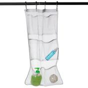 Qingsun 6 Pockets Net Wall Door Hanging Storage Bag Case Kitchen Bathroom Storage Pouch Organiser