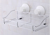 Shower Caddy with Strong Suction Cups Stainless Steel Wall Mounted Storage Basket Bathroom Kitchen Shelf Organiser