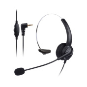 Docooler VH530 Professional Telephone Headset Clear Voice Noise Cancellation Customer Service Wired Head-mounted Headphone 2.5mm Earphone Jack for Call Centre Digital Telephone