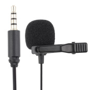 BOYA BY-LM10 Mini Condenser Lavalier Microphone Omnidirectional 3.5 mm Connexion for Smartphone Mobile iPhone iPad iPod iOS with 1.2 m Cable