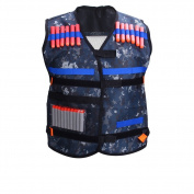 Adjustable Elite Padded Tactical Vest With Storage Pocket For Nerf N-strike Elite Series Blasters Kid Toy Play And Other Outdoor Activities, Pack of 1