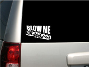 """15cm White Vinyl """"Blow Me"""" Duck Call - Duck Hunting Funny - MADE IN THE USA"""
