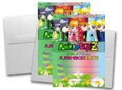 12 POWERPUFF GIRLS Z Birthday Invitation Cards (12 White Envelops Included) #1