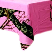 Hunting and Fishing 'Pink Camo' Plastic Table Cover