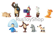 [RusToyShop] 27 Cm Toy Pink Dress Doll Masha and the Bear, puppet show the Famous Cartoon, Soft Gift, Girl, Birthday 11 inch