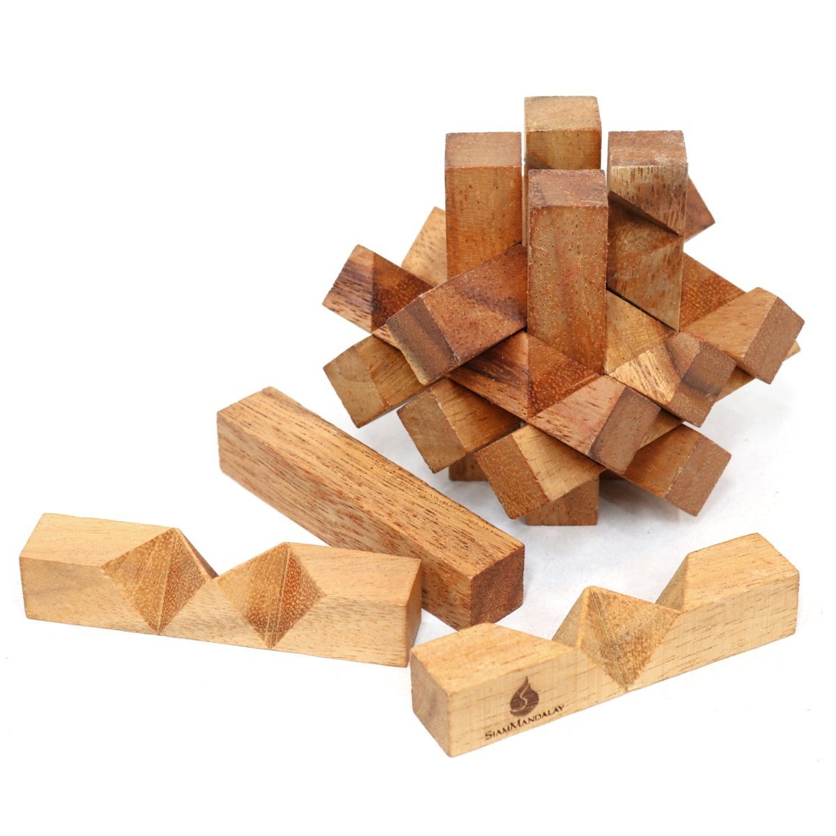 Lumberjack s Challenge: Handmade & Organic Wooden Burr Puzzle for Adults  from SiamMandalay with Free SM Gift Box Pictured | PrestoMall - Board Games