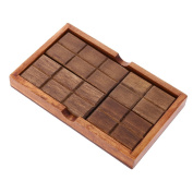 MonkeyJack Classic Wooden Puzzle Toy Brain Teaser Game Chocolate Box Puzzle Kids Educational Toys