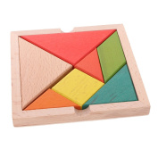 MonkeyJack Classic Wooden Puzzle Toy Brain Teaser Game Colourful Tangram Puzzle Kids Toddler Educational Toys