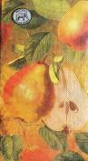 Tuscan Pear 15 Paper Hostess Napkins Triple-Ply