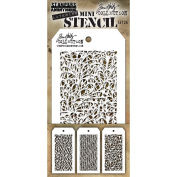 Tim Holtz Mini Layered Stencil Set 3/Pkg-Set #26
